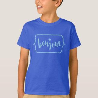 Bonjour - Hand Lettering Typography Design T-Shirt