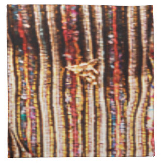 BonneAppetit - Handknotted Durry Fabric Pattern Napkin