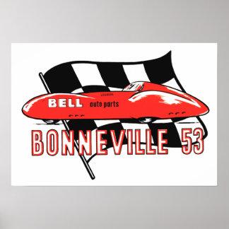 Bonneville 53 Vintage Logo Poster
