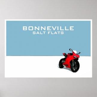Bonneville Salt Flats Poster