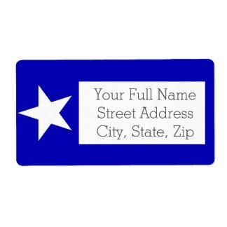 Bonnie Blue Flag Shipping Label