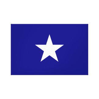 Bonnie Blue Flag White Star Canvas Print