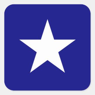 Bonnie Blue Flag White Star Square Sticker