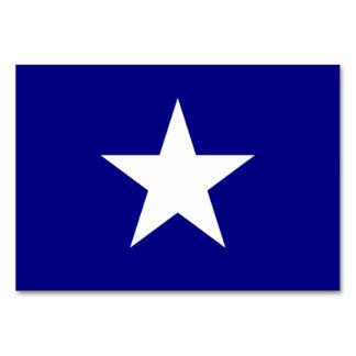 Bonnie Blue Flag with Lone White Star Table Card