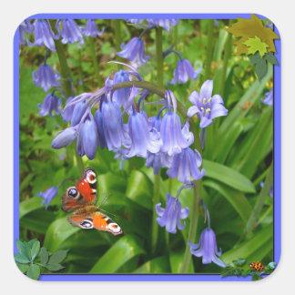 BONNIE BLUEBELL ~ Square Envelope Sealer/Sticker Square Sticker
