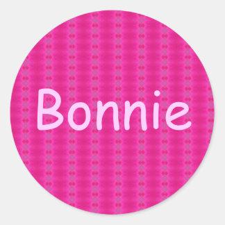 Bonnie Classic Round Sticker
