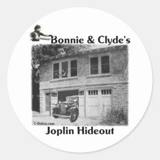 Bonnie & Clyde's Joplin Hideout Classic Round Sticker