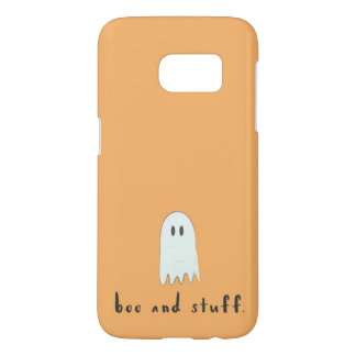 """Boo and Stuff"" Orange Ghost Halloween"