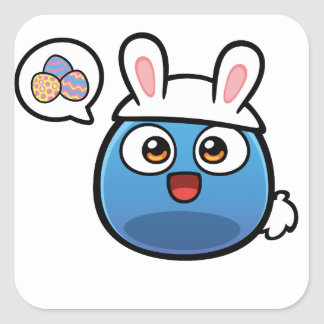 Boo Easter Products Square Sticker