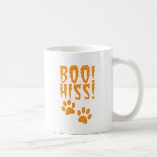 Boo Hiss! catty kitty foot prints Basic White Mug