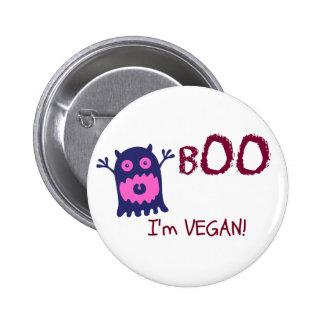 Boo I'm Vegan Button