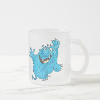 Boogie on Down monster frosted glass Frosted Glass Coffee Mug