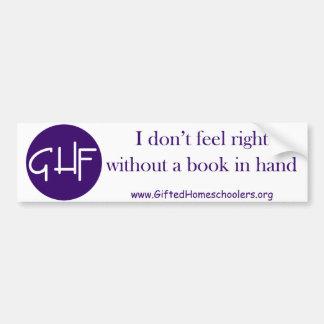 Book in Hand Bumper Sticker