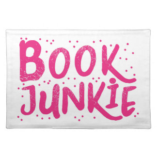 book junkie in pink placemat