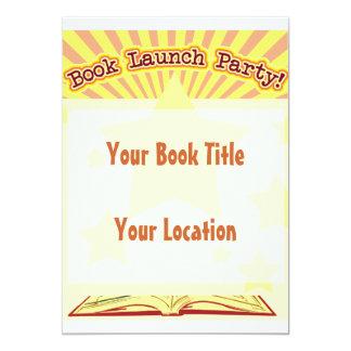 """Book Launch Party Invite 5"""" X 7"""" Invitation Card"""