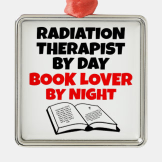 Book Lover Radiation Therapist Christmas Ornament