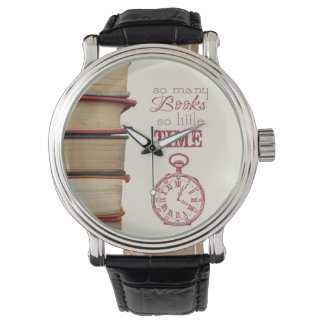 """book lovers vintage watch """"So Many Books"""""""
