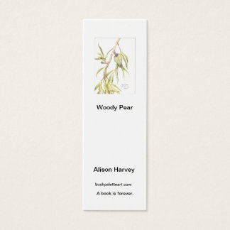 Book mark Woody Pear Mini Business Card