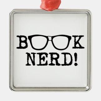 Book Nerd Christmas Ornament