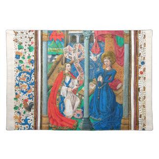 Book of Hours SR001 #1 Illuminated Manuscript Art Placemat