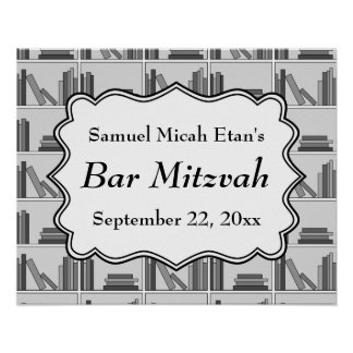 Book Shelf Design Bar Mitzvah Posters