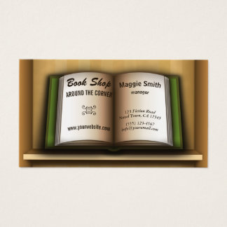 Book Store Book Shelf  Bookstore Business Cards