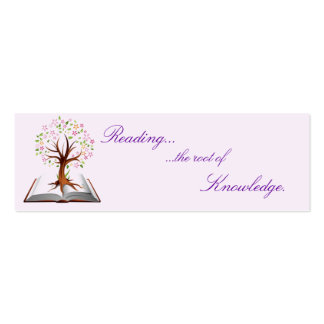book tree knowledge bookmark pack of skinny business cards