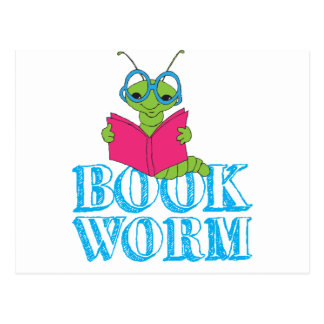 Book Worm Post Cards