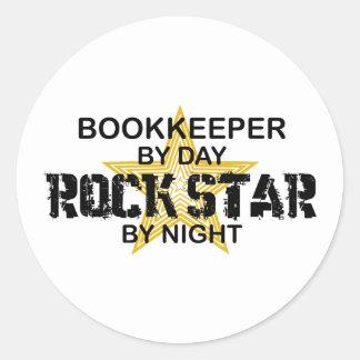 Bookkeeper Rock Star Classic Round Sticker
