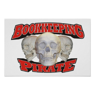 Bookkeeping Pirate Print