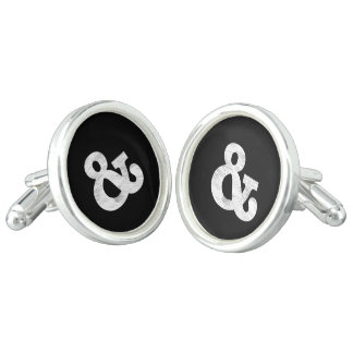 Bookman Old Style Bold White Letterpress Cuff Links