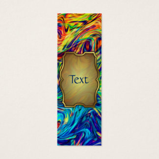 Bookmark Business Card Fluid Colours