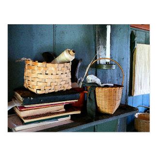 Books and Baskets Post Card