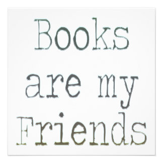 Books Are My Friends Custom Invitation