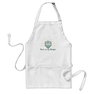 Books are My Religion Adult Apron