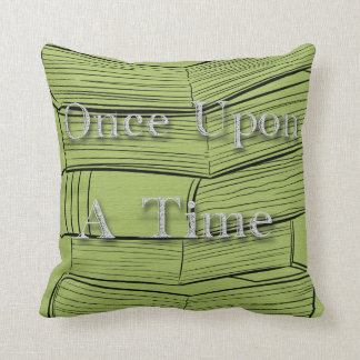 "Books Library ""Once Upon A Time""Nursery Decorative Cushion"