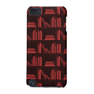 Books on Shelf. Dark Red. iPod Touch 5G Cases
