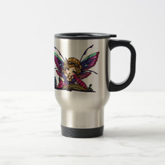Bookworm Fairy Library Fantasy Art by Hannah Lynn Travel Mug
