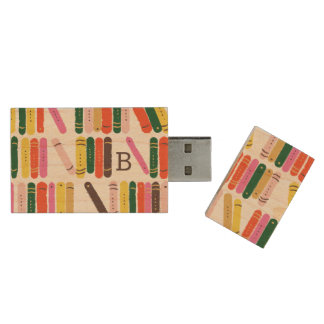 Bookworm Wood USB 3.0 Flash Drive