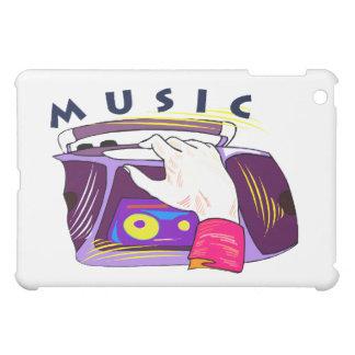 Boombox radio and hand graphic, word Music iPad Mini Case