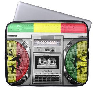 boombox reggae laptop sleeve