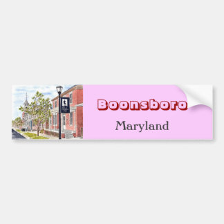 'Boonsboro' Bumper Sticker Car Bumper Sticker