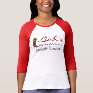 """Boots & Pearls"" Bachelorette Party T-Shirts"