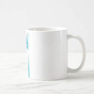 Boots the cat in blue basic white mug