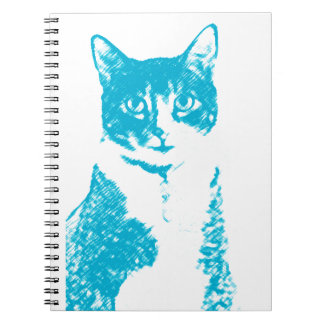 Boots the Cat in Blue notebook