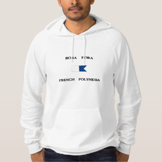 Bora Bora French Polynesia Alpha Dive Flag Hoodie