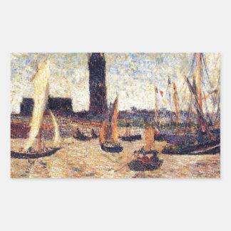 Bordeaux Harbour by Paul Gauguin Rectangular Sticker