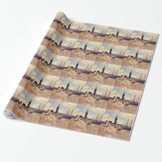 Bordeaux Harbour by Paul Gauguin Wrapping Paper