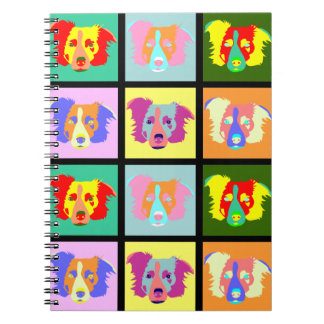 Border Collie Pop Art Spiral Notebook