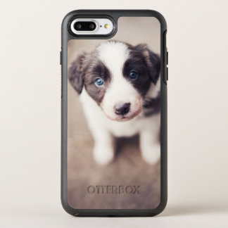 Border Collie Puppy With Blue Eyes OtterBox Symmetry iPhone 8 Plus/7 Plus Case